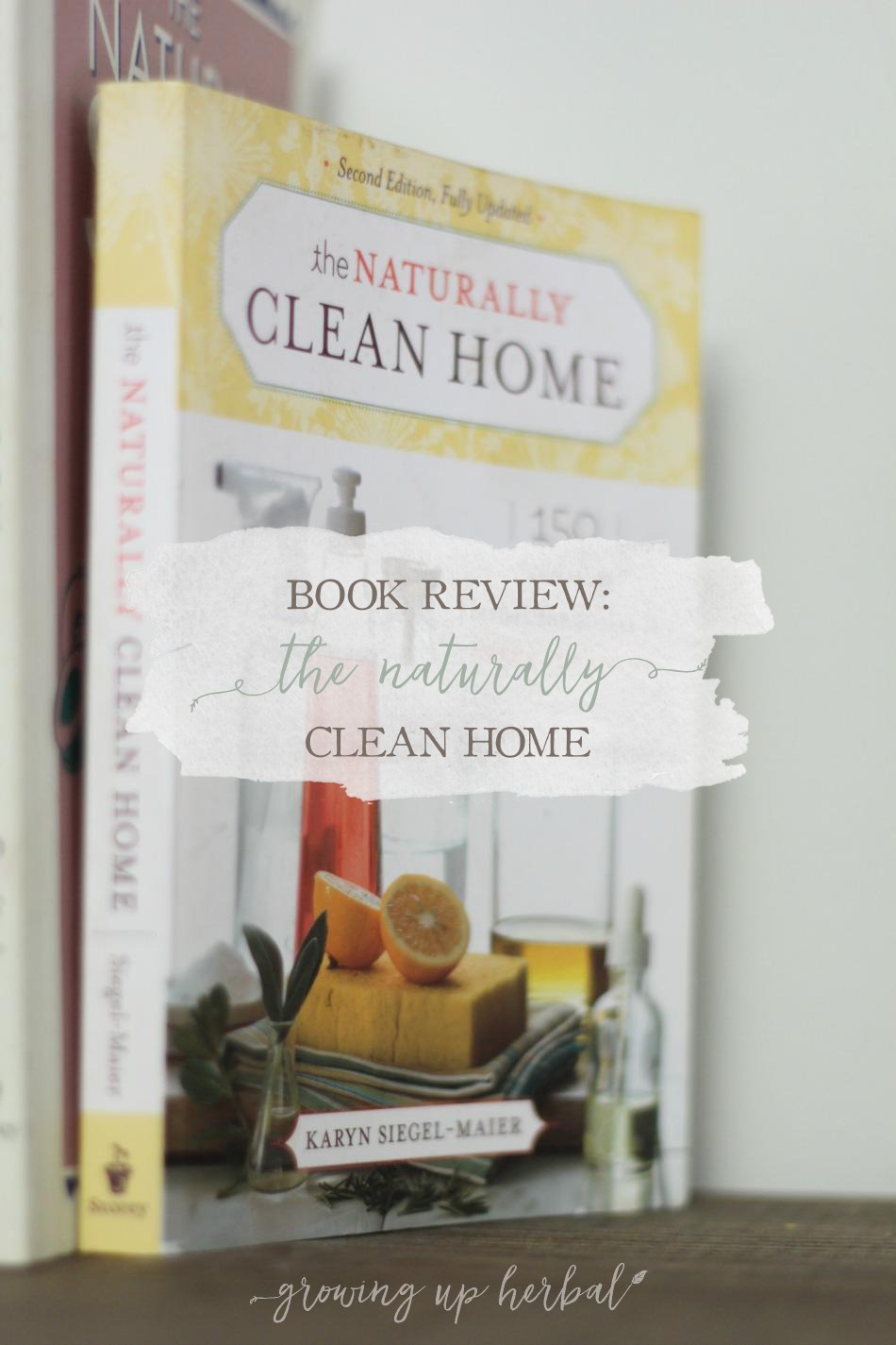 Book Review: The Naturally Clean Home | Growing Up Herbal | Want to clean your home naturally? Looking for great recipes all in one place? This book can help!