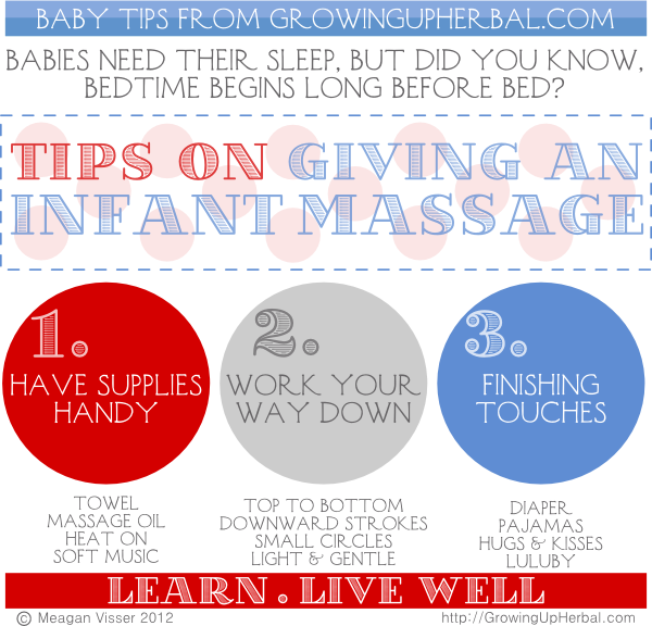 3 Steps To A Successful Night-time Baby Massage | Growing Up Herbal | Learn how to soothe your baby to sleep with a nighttime baby massage.