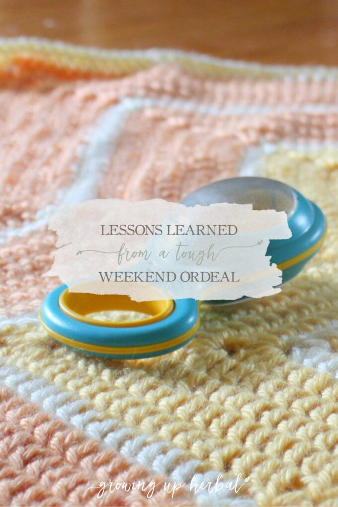 Lessons Learned From A Tough Weekend Ordeal | Growing Up Herbal | Infection, antibiotics, and hospitalization with an infant and a natural mama. No fun!