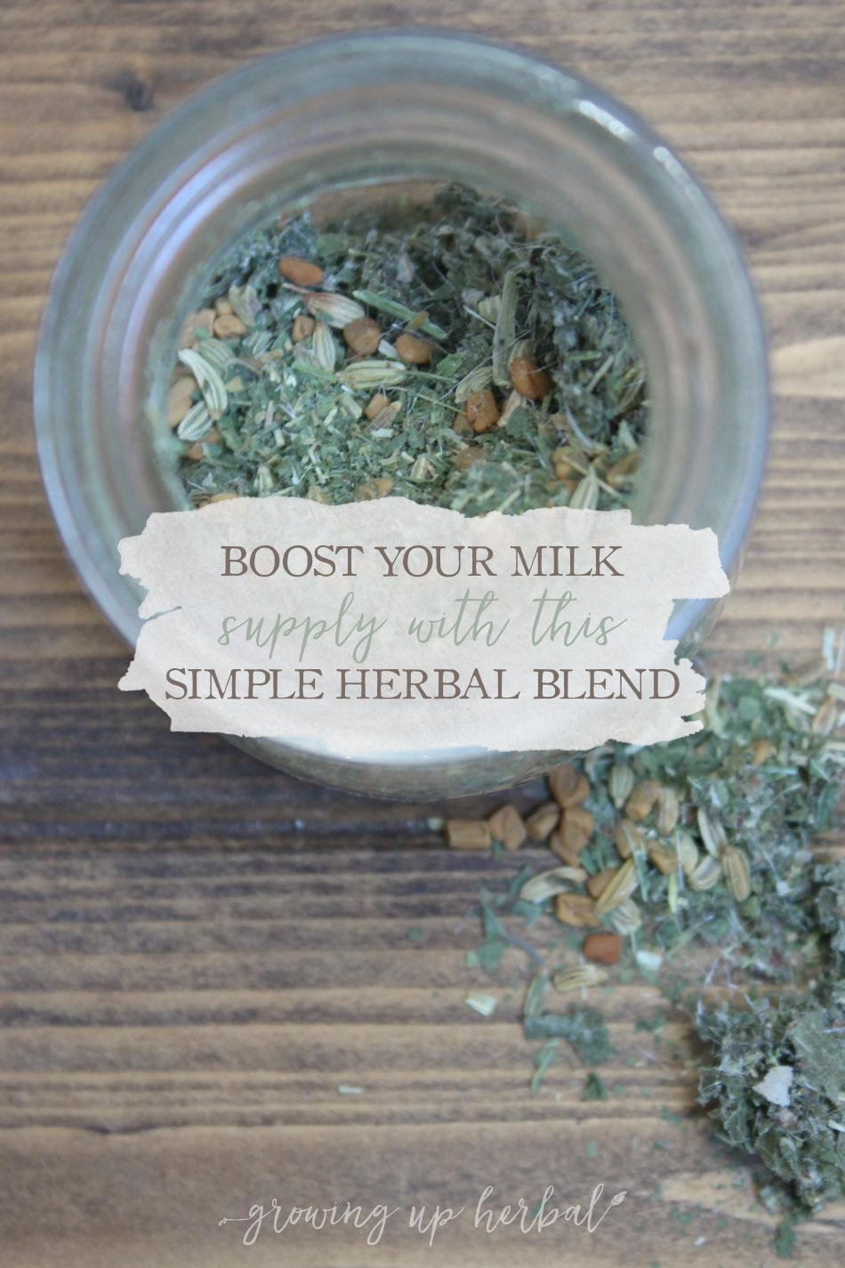 How To Boost Your Milk Supply With This Simple Herbal Blend   Growing Up Herbal   If you're a nursing mama and looking for a natural way to boost your milk supply, this herbal blend may be just the thing to help you and your milk supply.
