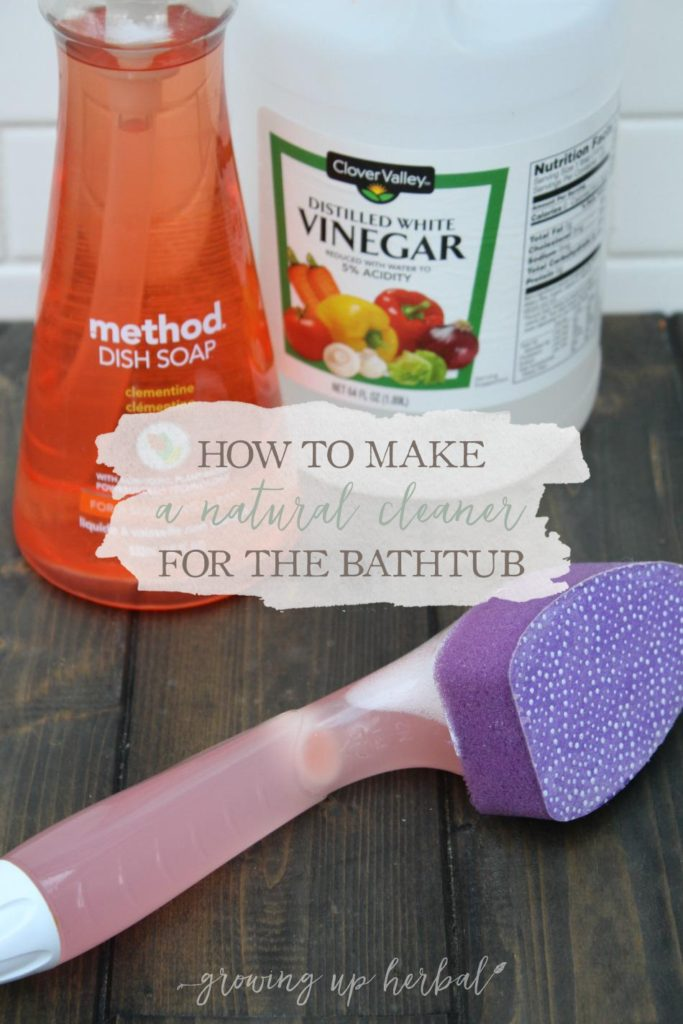 How To Make A Natural Cleaner For The Bathtub | Growing Up Herbal | Checkout my favorite natural cleaner for the bathtub and shower! It's so easy and so cheap!