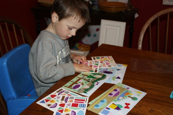 Playing at home with the Make-A-Scene Sticker Sheets