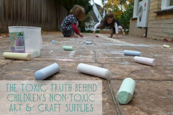 "The Toxic Truth Behind Children's Non-Toxic Art & Craft Supplies | GrowingUpHerbal.com | Do you know the truth about ""non-toxic"" labels on kids art and craft supplies?"