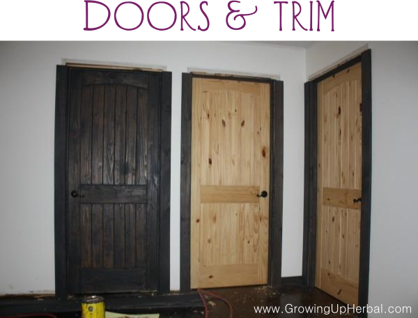Trim and Doors Stained