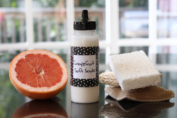 DIY Grapefruit Soft Scrub - DIY Non-Toxic Cleaning Recipes