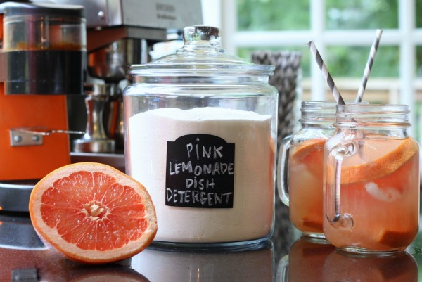 Pink Lemonade Dish Detergent - DIY Non-Toxic Homemade Cleaners