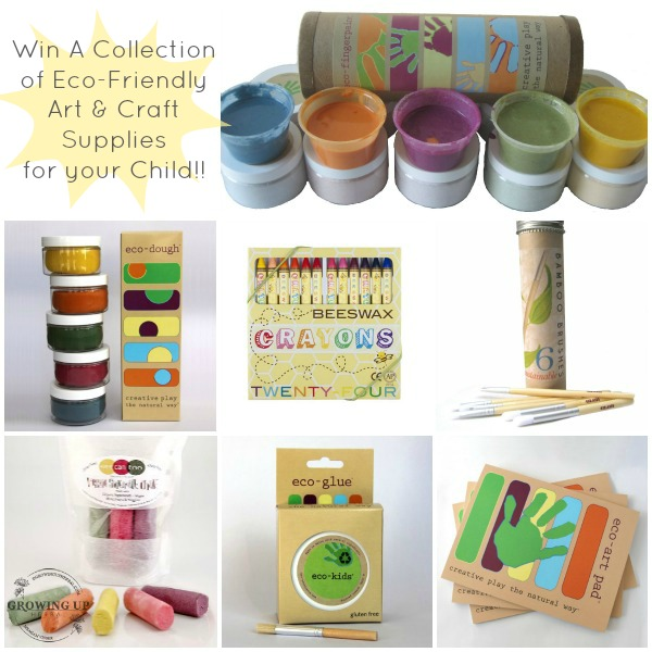 Win A Collection of Eco-Friendly Art & Craft Supplies for your Child |GrowingUpHerbal.com