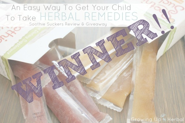 Soothie Suckers Giveaway Winners - GrowingUpHerbal.com