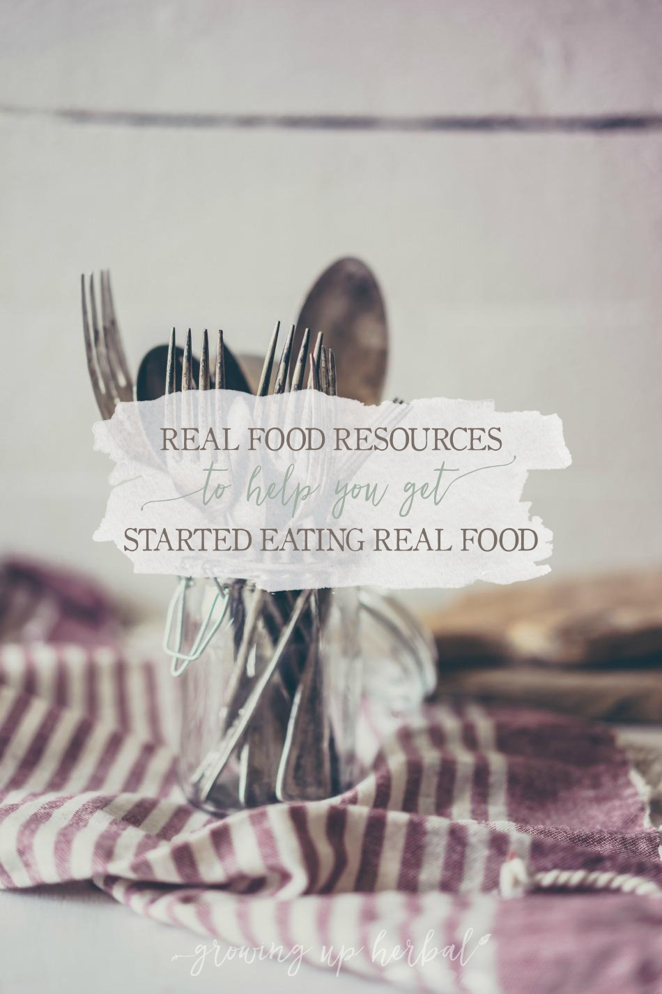 Real Food Resources To Help You Get Started Eating Real Food | Growing Up Herbal | Looking for more resources to help you make the switch to real food? Look no more. I have curated some great ones right here!