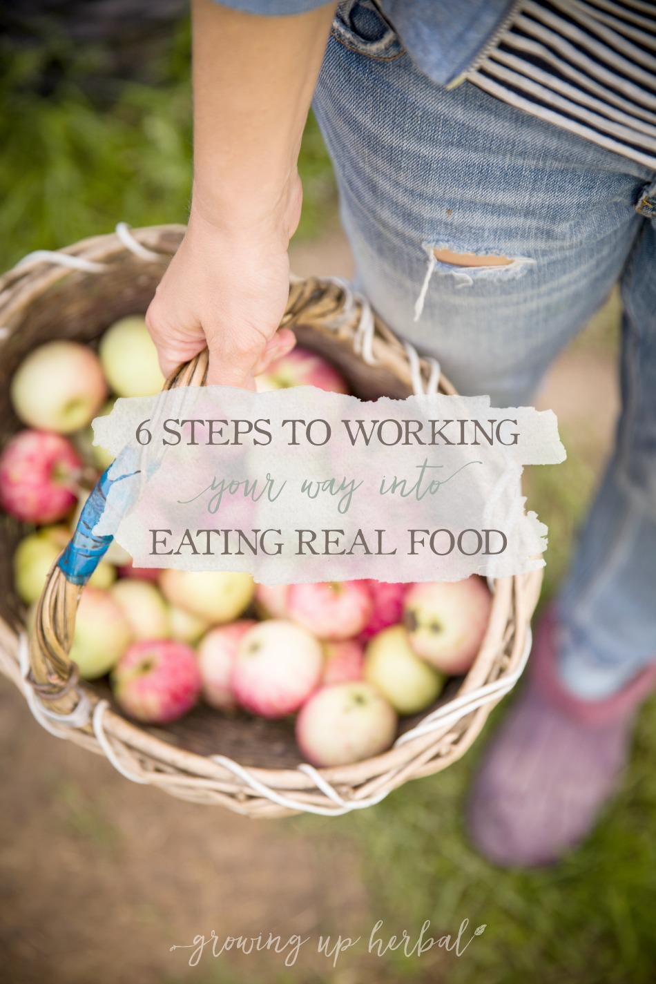 6 Steps To Working Your Way Into Eating Real Food | Growing Up Herbal | Is making the switch to real food overwhelming? Here's how to work your way into it nice and easy.