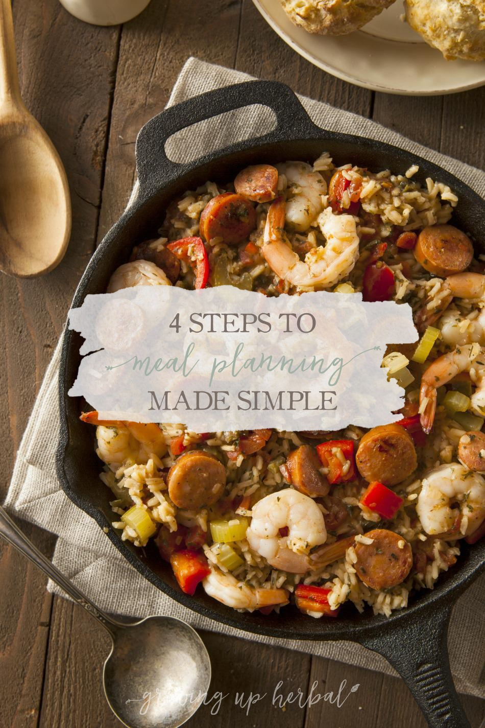 4 Steps To Meal Planning Made Simple | Growing Up Herbal | Here's my 4 step system to simplifying the weekly meal planning process!