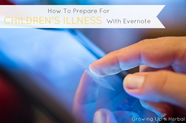 prepare for illness with evernote