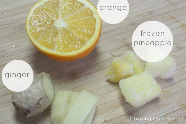 Maca Superfood Citrus Smoothie Recipe | GrowingUpHerbal.com