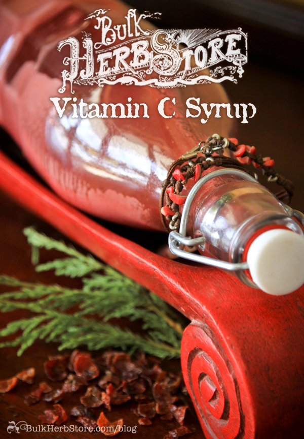 Boost Your Immune System With This Herbal Vitamin C Syrup | GrowingUpHerbal.com | Be prepared for cold and flu season with this herbal vitamin c syrup!