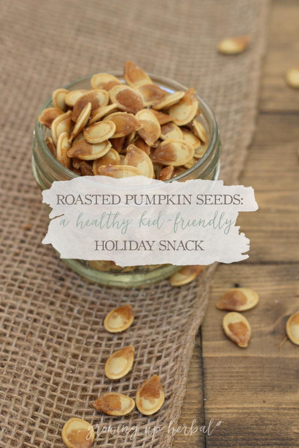 Roasted Pumpkin Seed Spice Blends | Growing Up Herbal | 4 ways to season your holiday pumpkin seeds.