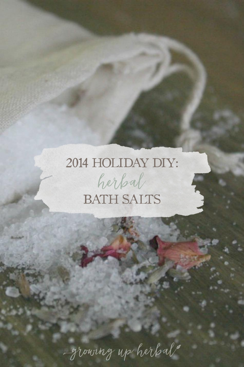 2014 DIY Holiday: Herbal Bath Salts   Growing Up Herbal   Three blends of herbal bath salts sure to make for a great handmade holiday gift!