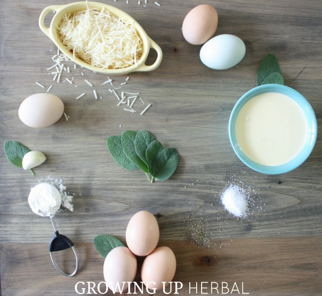Crustless Sage Quiche For A Healthy Savory Breakfast | Growing Up Herbal | Quick and easy sage quiche that makes a great protein packed breakfast for the kids!