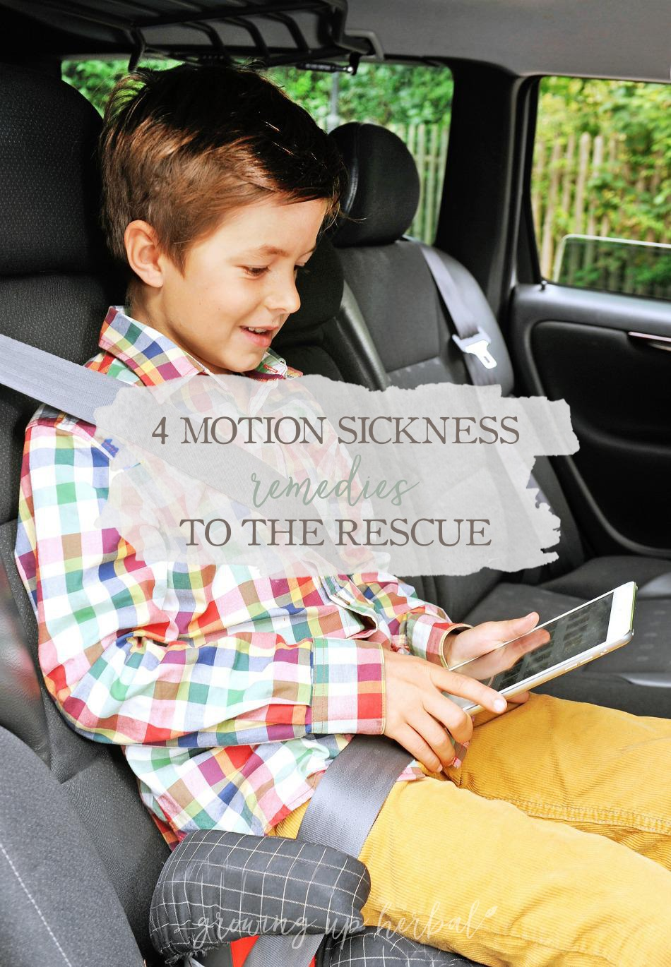 4 Motion Sickness Remedies To The Rescue | Growing Up Herbal | Taking a summer road trip with kids? Here are a variety of motion sickness remedies to take with you!