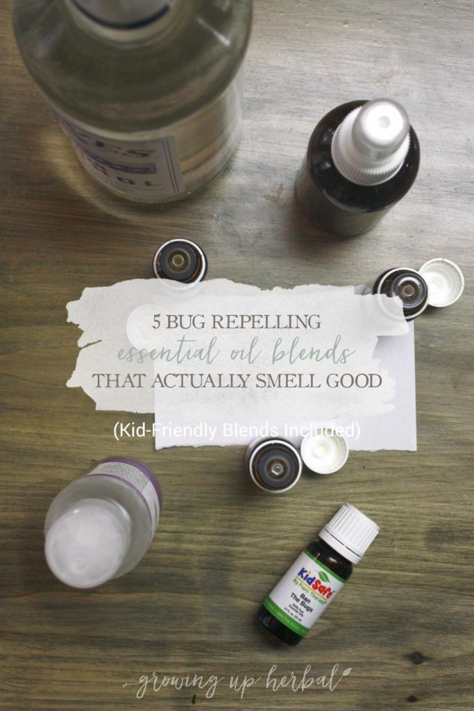 5 Bug Repelling Essential Oil Blends That Actually Smell Good (Kid-Friendly Blends Included) | Growing Up Herbal | Making homemade bug sprays this summer? Here are 5 bug repelling essential oil blends to repel the bugs and keep you smelling good at the same time!