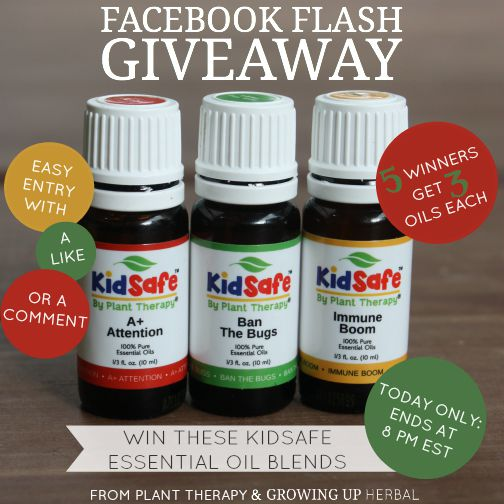 Want To Win Some KidSafe Essential Oils From Plant Therapy? Here's How!   Growing Up Herbal   Win some Plant Therapy KidSafe essential oils today!
