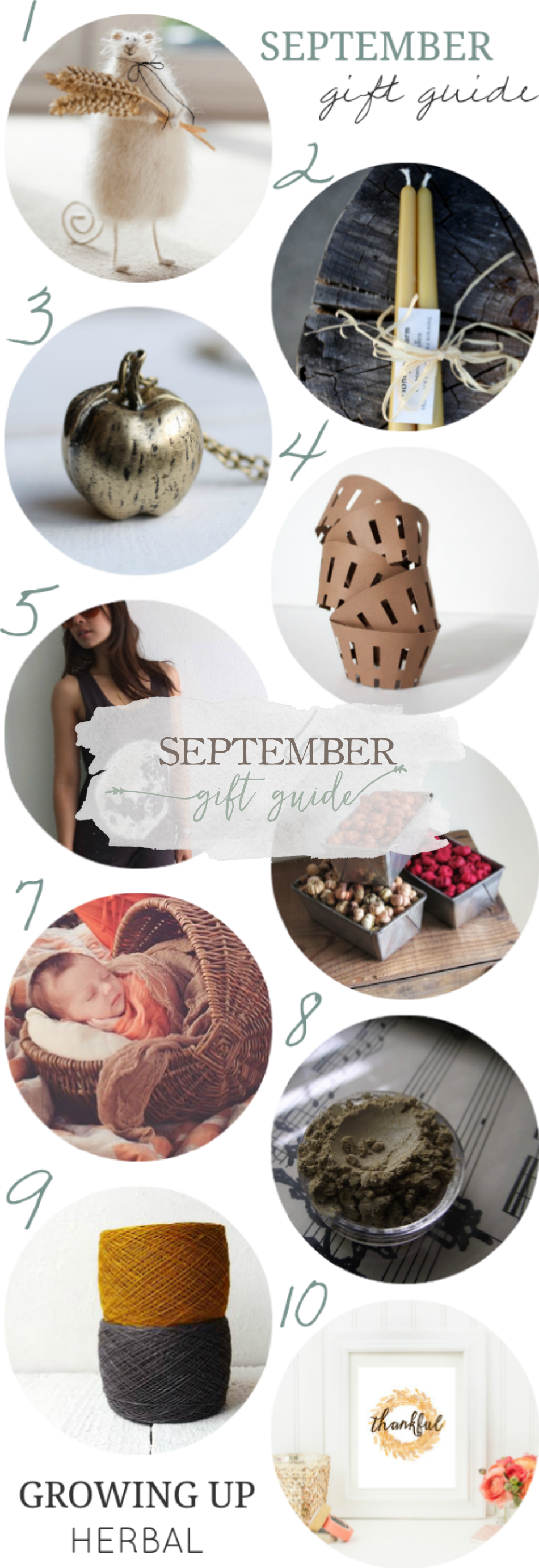 September Gift Guide | Growing Up Herbal | An autumn themed guide of homemade gifts for natural mamas!