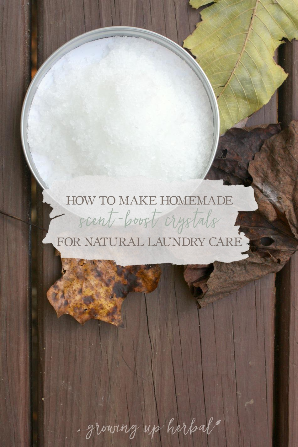 Homemade Scent-Boost Crystals | Growing Up Herbal | Are you bummed your clothes aren't smelling as fresh as you'd like when you use natural laundry products? Try these homemade scent-boost crystals and smell the difference!