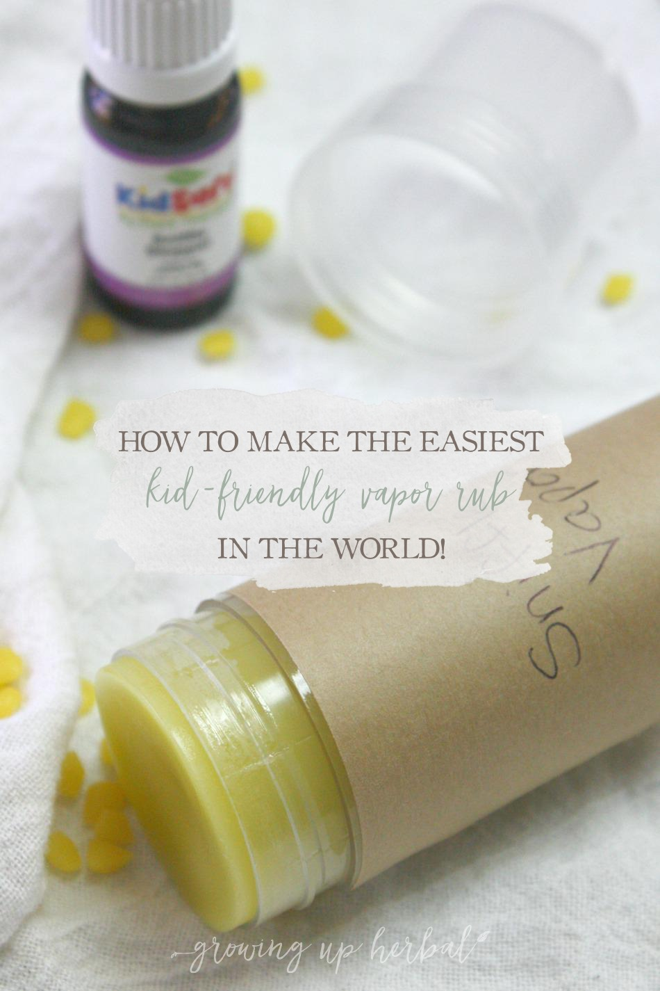 How To Make The Easiest Kid-Friendly Vapor Rub In The World | Growing Up Herbal | Can't find a vapor rub that contains safe essential oils for your little one? Here you go!