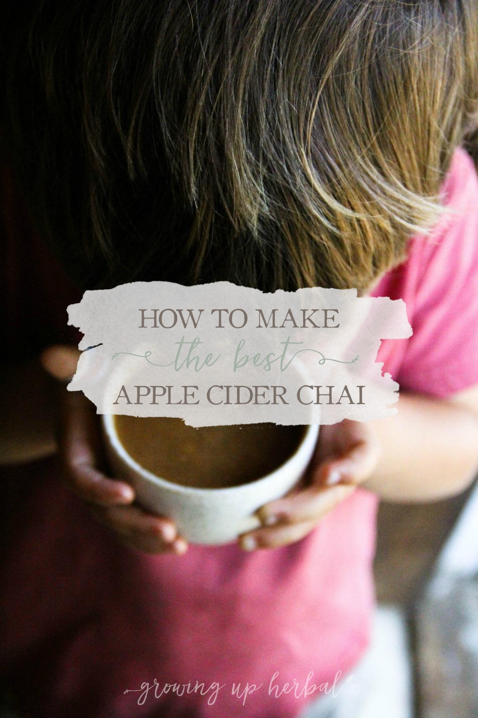 How To Make The Best Apple Cider Chai | Growing Up Herbal | Learn how to make the best apple cider chai with two simple ingredients. It's a must-have at fall parties and for keeping little one's warm after long fall days outside.