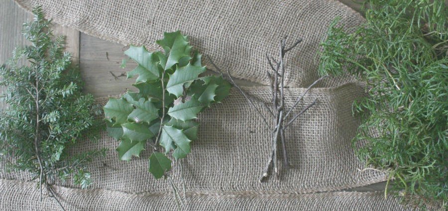 DIY Woodland Christmas Garland Tutorial | Growing Up Herbal | A Woodland Christmas garland tutorial using natural supplies.
