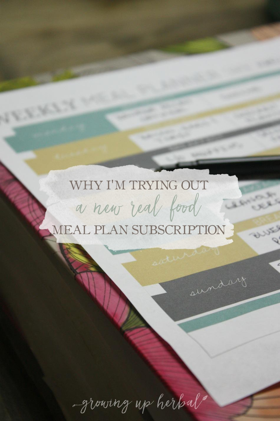 Why I'm Trying Out A New Real Food Meal Plan Subscription | Growing Up Herbal | I've finally found a real food meal plan subscription that looks just right!