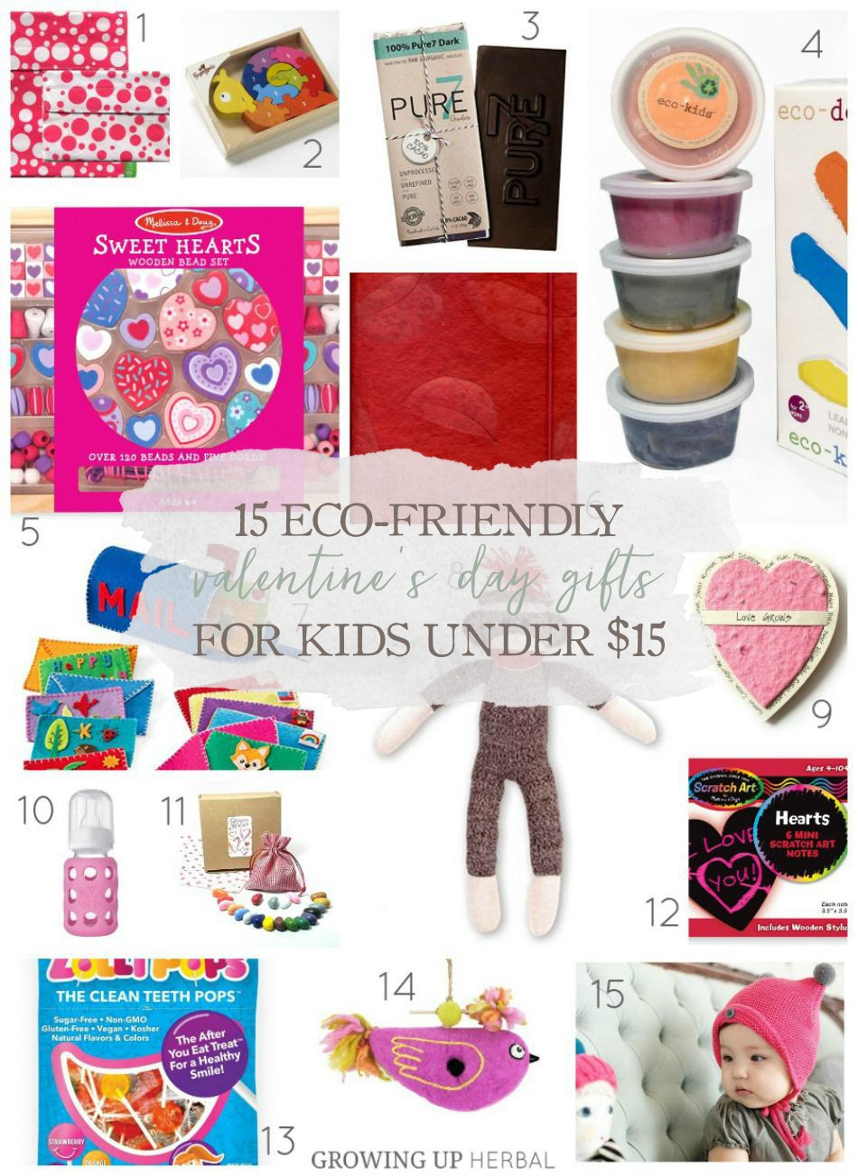 15 Eco-Friendly Valentine's Day Gifts For Kids Under $15 | Growing Up Herbal | Here are 15 eco-friendly Valentine's Day gifts, all under $15, perfect for your kiddo!