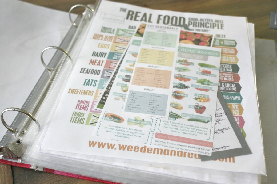 Meal Planning Monday: Cleaning Out & Organizing My Recipe Binder | Growing Up Herbal | Today I'm sharing how I recently organized my messy recipe binder!