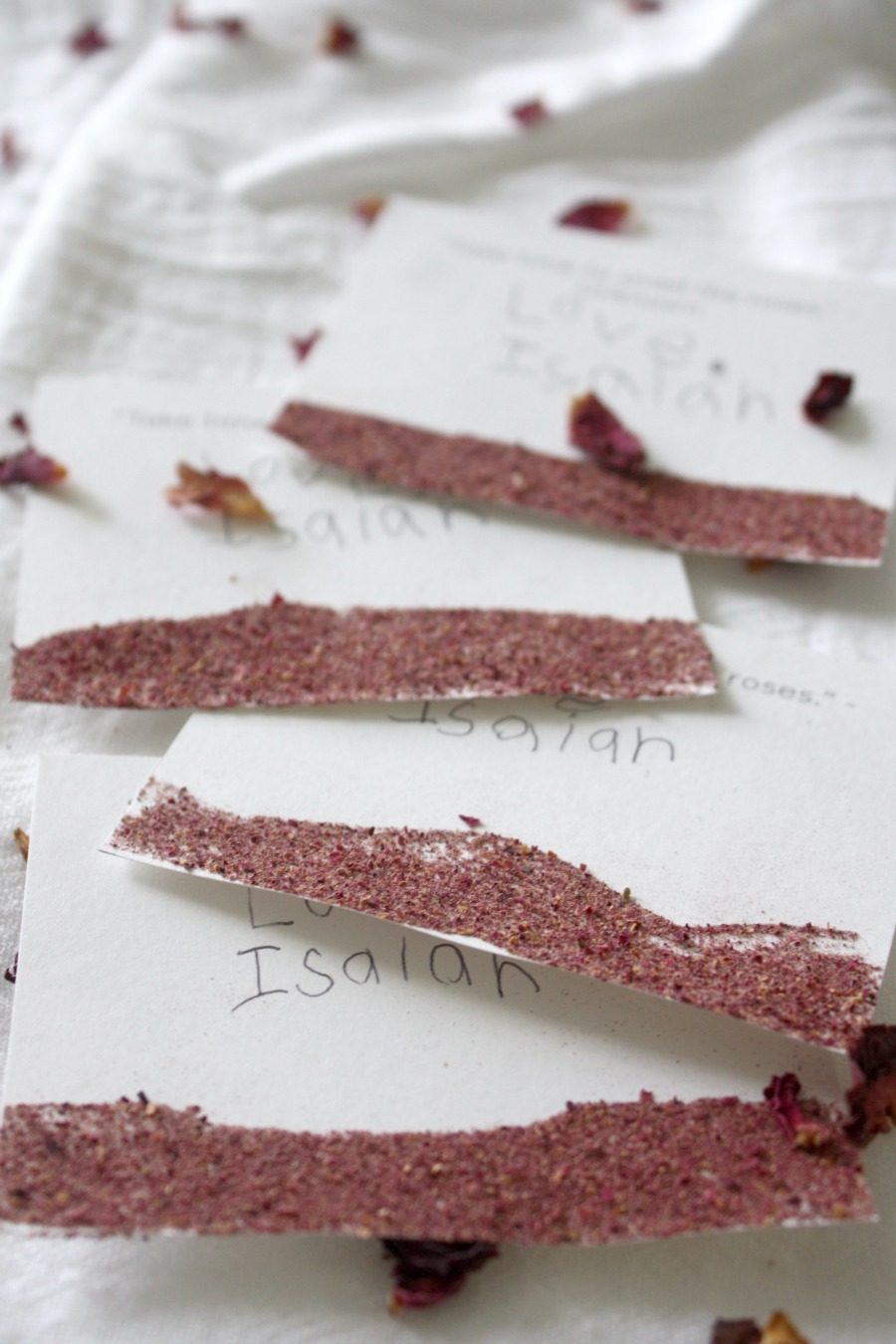 How To Make Scented Rose Dust Valentine's Day Cards For Children   Growing Up Herbal   Make DIY Valentine's Day cards with herbs and essential oils for loved ones this year!