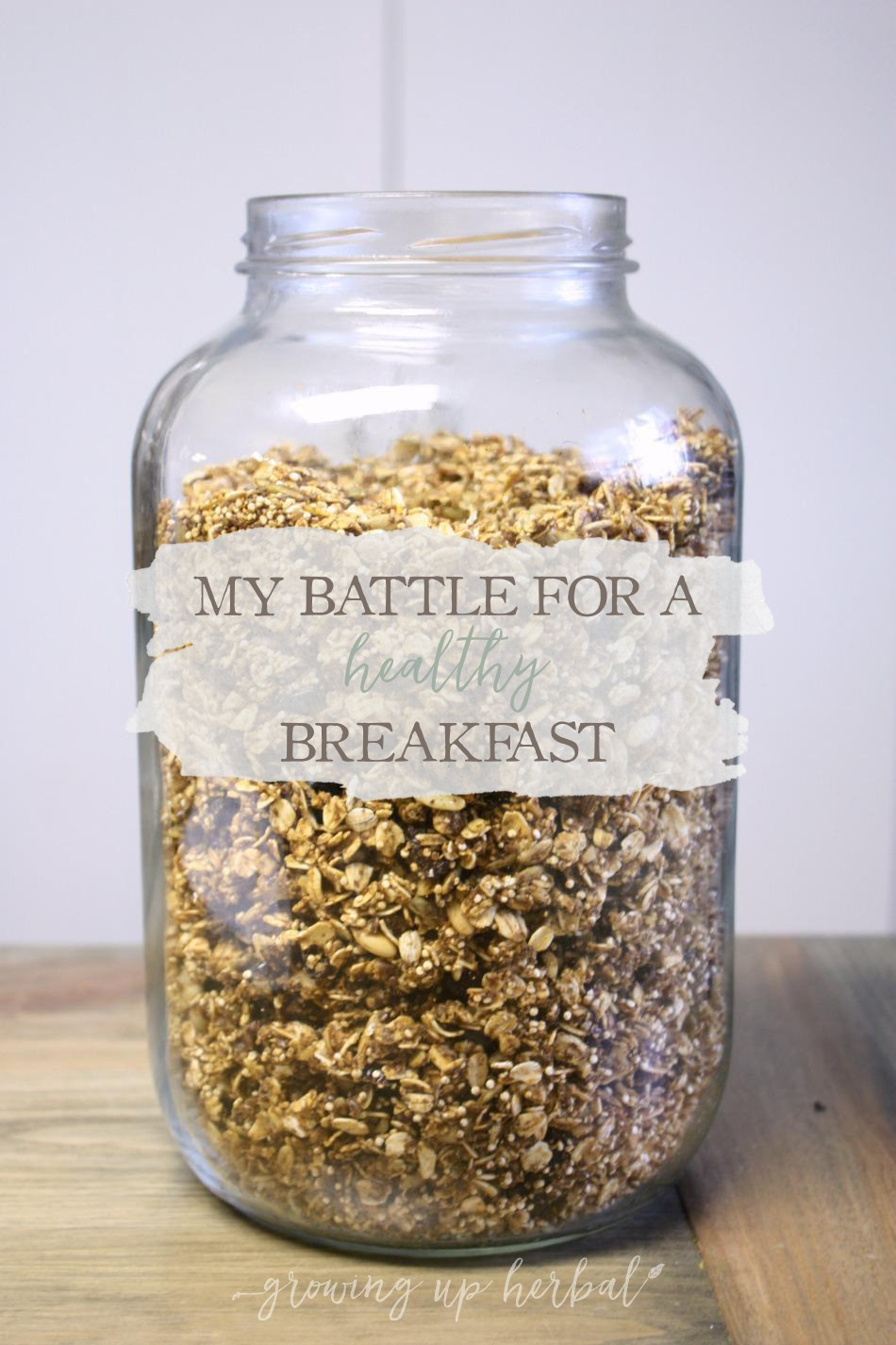 Meal Planning Monday: My Battle For A Healthy Breakfast | Growing Up Herbal | This month, I'm sharing my struggles for making and eating a healthy breakfast in the morning!