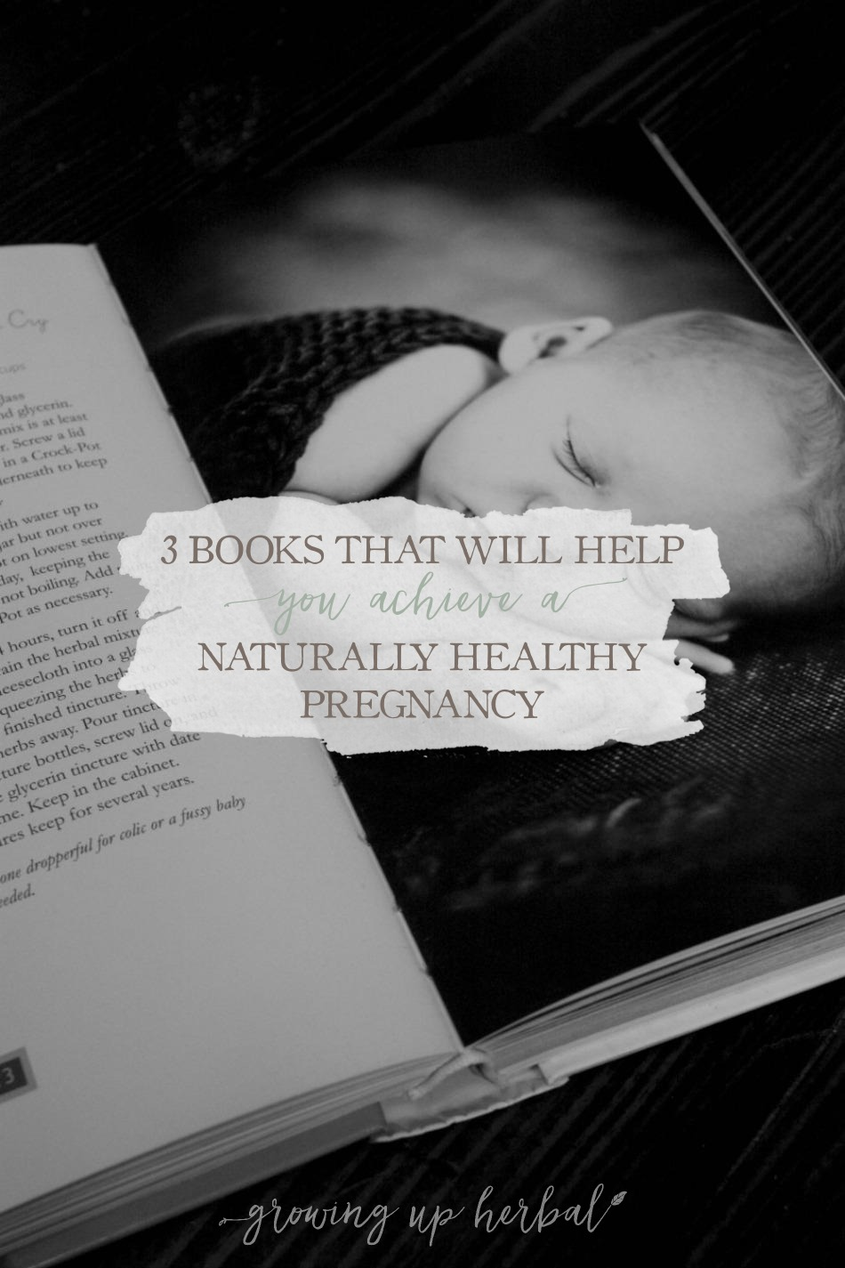 3 Books That Will Help You Achieve A Naturally Healthy Pregnancy | Growing Up Herbal | Here are my 3 favorite books for helping have a naturally healthy pregnancy!