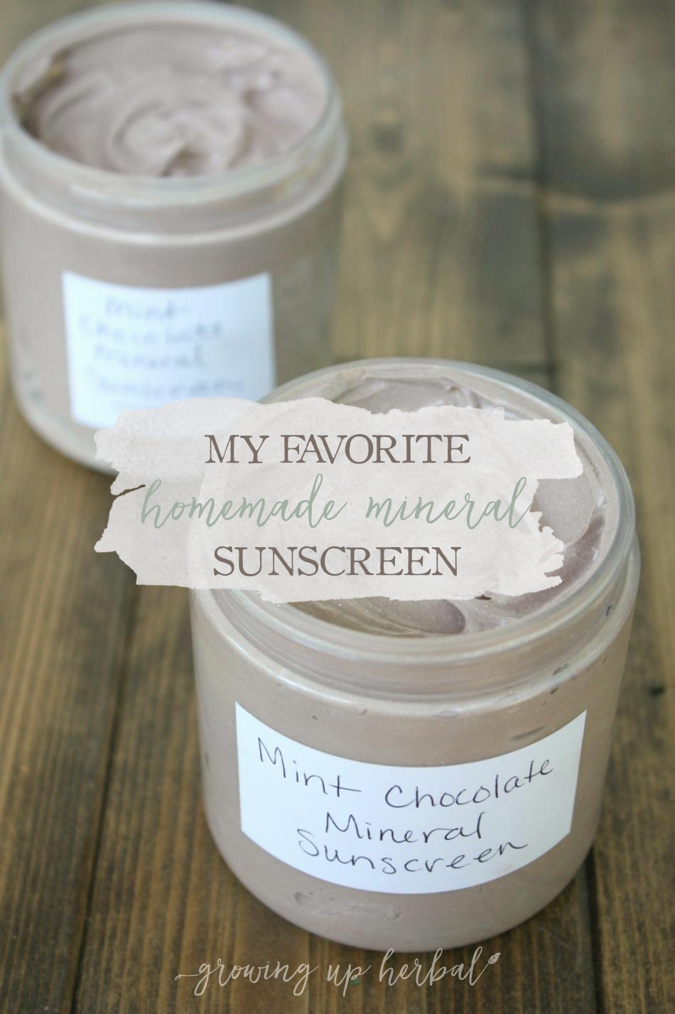 My Favorite Homemade Mineral Sunscreen | Growing Up Herbal | Here's my favorite mineral sunscreen recipe. It's easy to make, has a long shelf-life, and works well!