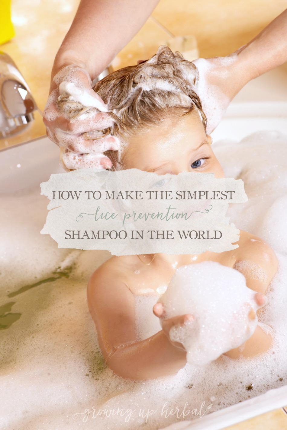 How To Make The Simplest Lice Prevention Shampoo & Conditioner In The World | Growing Up Herbal | Worried about your kid getting lice mama? Try this easy-to-make shampoo to help prevent it from happening.