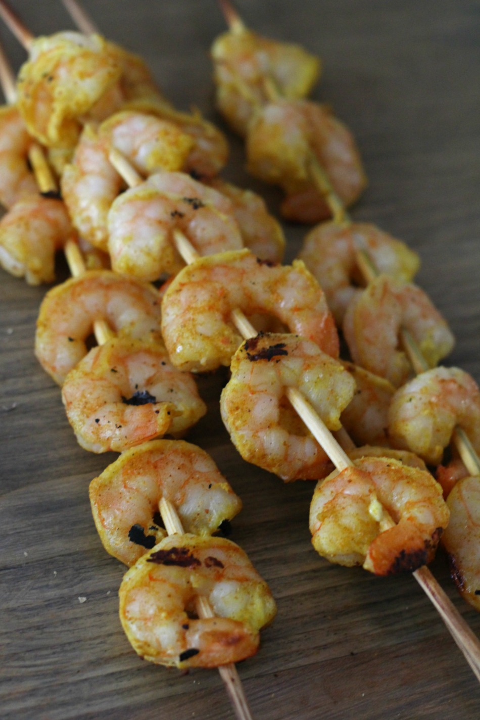 Grilled Tandoori Shrimp Skewers | Growing Up Herbal | You'll love this Indian-inspired recipe for grilled tandoori shrimp skewers!