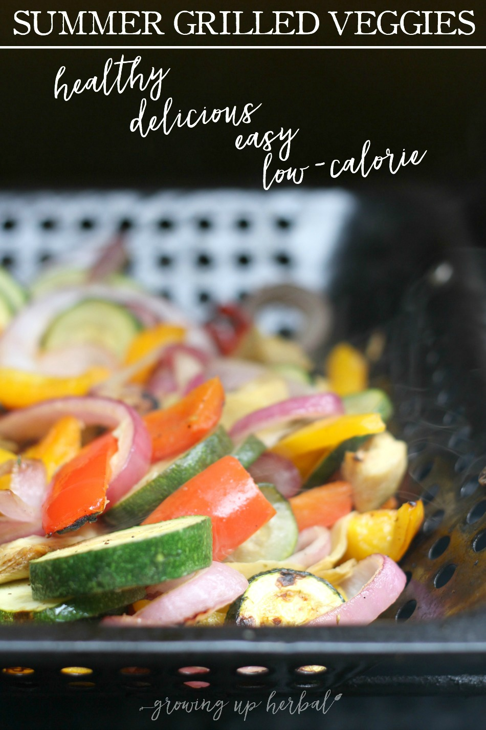 Summer Grilled Veggies (The Easiest Side Dish Ever) | Growing Up Herbal | You'll fall in love with how tasty and easy to make these summer grilled veggies are!