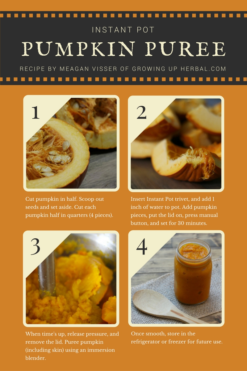 How To Make Instant Pot Pumpkin Puree | Growing Up Herbal | Learn how to make this real food staple for all your fall pumpkin baking needs.