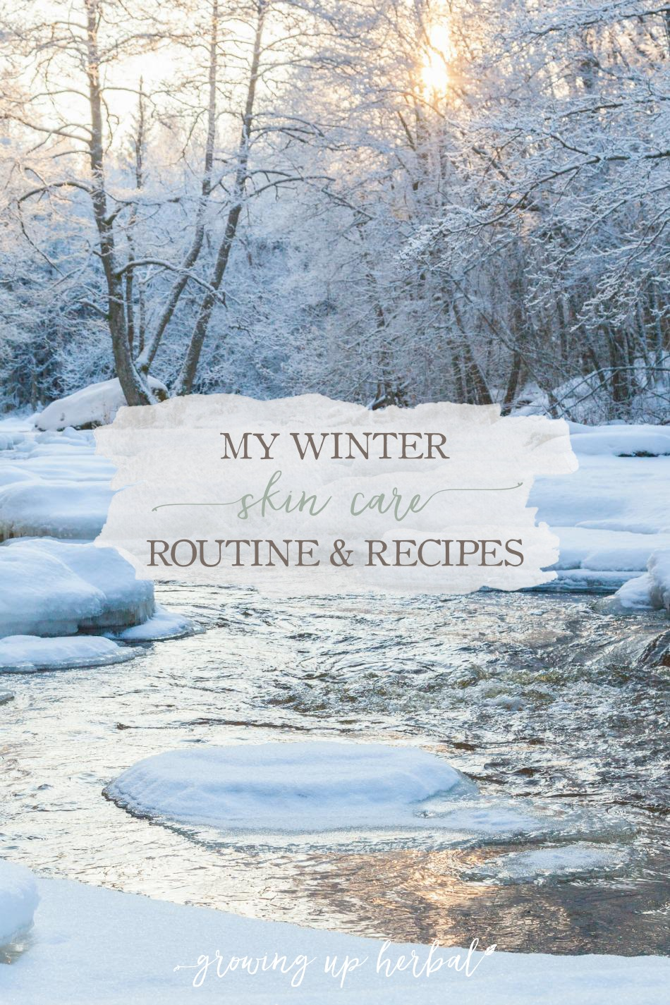 My Winter Skin Care Routine & Recipes | Growing Up Herbal | Follow my winter skin care routine to keep your skin moisturized, nourished, and healthy during the long cold months of the year. DIY recipes included!