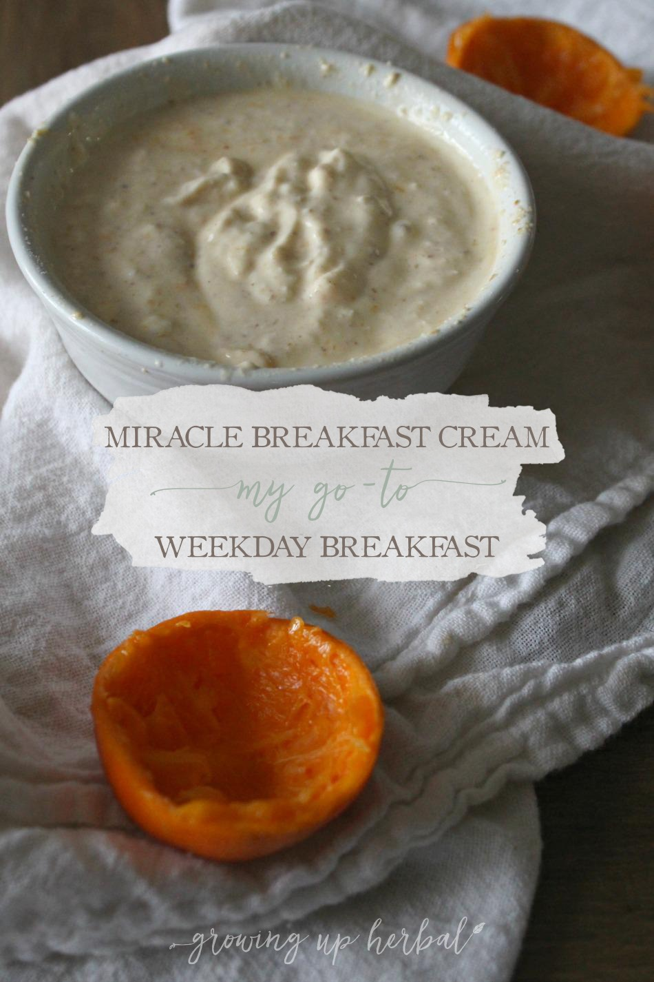 Miracle Breakfast Cream: My Go-To Weekday Breakfast | Growing Up Herbal | Wanna know what I eat every morning for breakfast? It's healthy and delicious, and I'm sharing the full recipe with you!