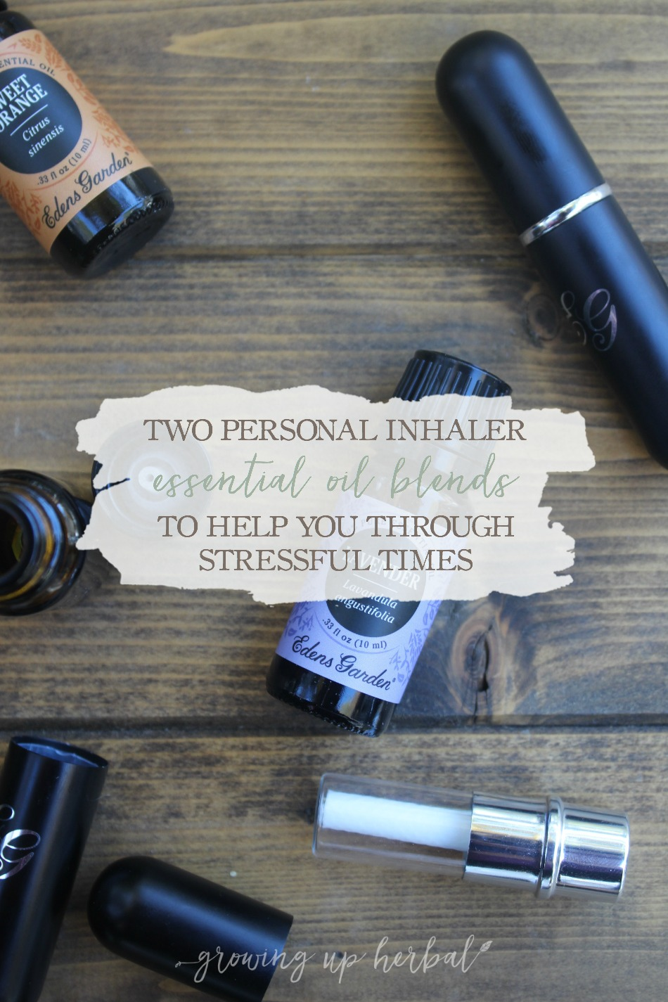 Two Personal Inhaler Essential Oil Blends To Help You Through Stressful Times | Growing Up Herbal | We all have to manage stress in our lives. Thankfully there are things like essential oils and herbs to help us do it. Get the recipe for two essential oil blends to use in your personal inhaler to help you deal with stress when you need to.