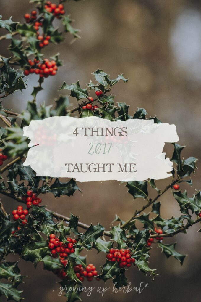 4 Things 2017 Taught Me | Growing Up Herbal | Being mindful and learning from our successes and failures is an important part of living. Here, I'm sharing four life lessons I learned in 2017.