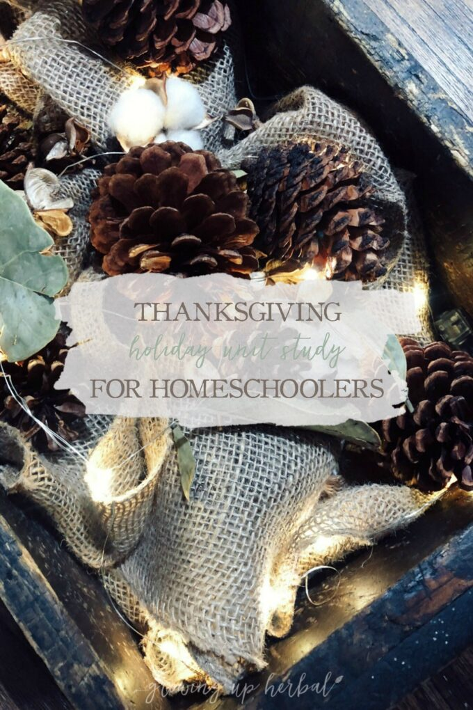 A Thanksgiving Holiday Unit Study for Homeschoolers | Growing Up Herbal | Here's a quick, one week Thanksgiving holiday unit study that's fun for homeschoolers.