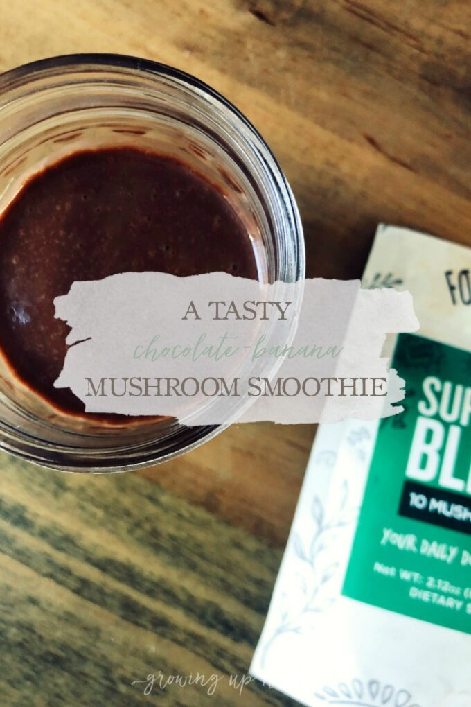 A Tasty Chocolate-Banana Mushroom Smoothie | Growing Up Herbal | Tasty, nutritious, full of antioxidants, and supportive to your immune system—this chocolate-banana mushroom smoothie will soon be a family favorite!