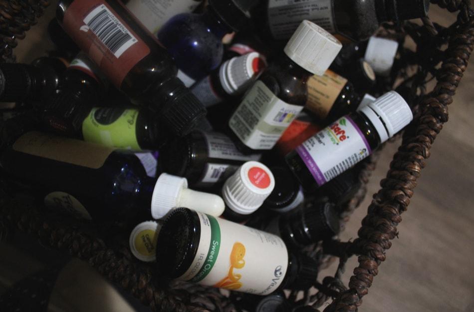 box of essential oils