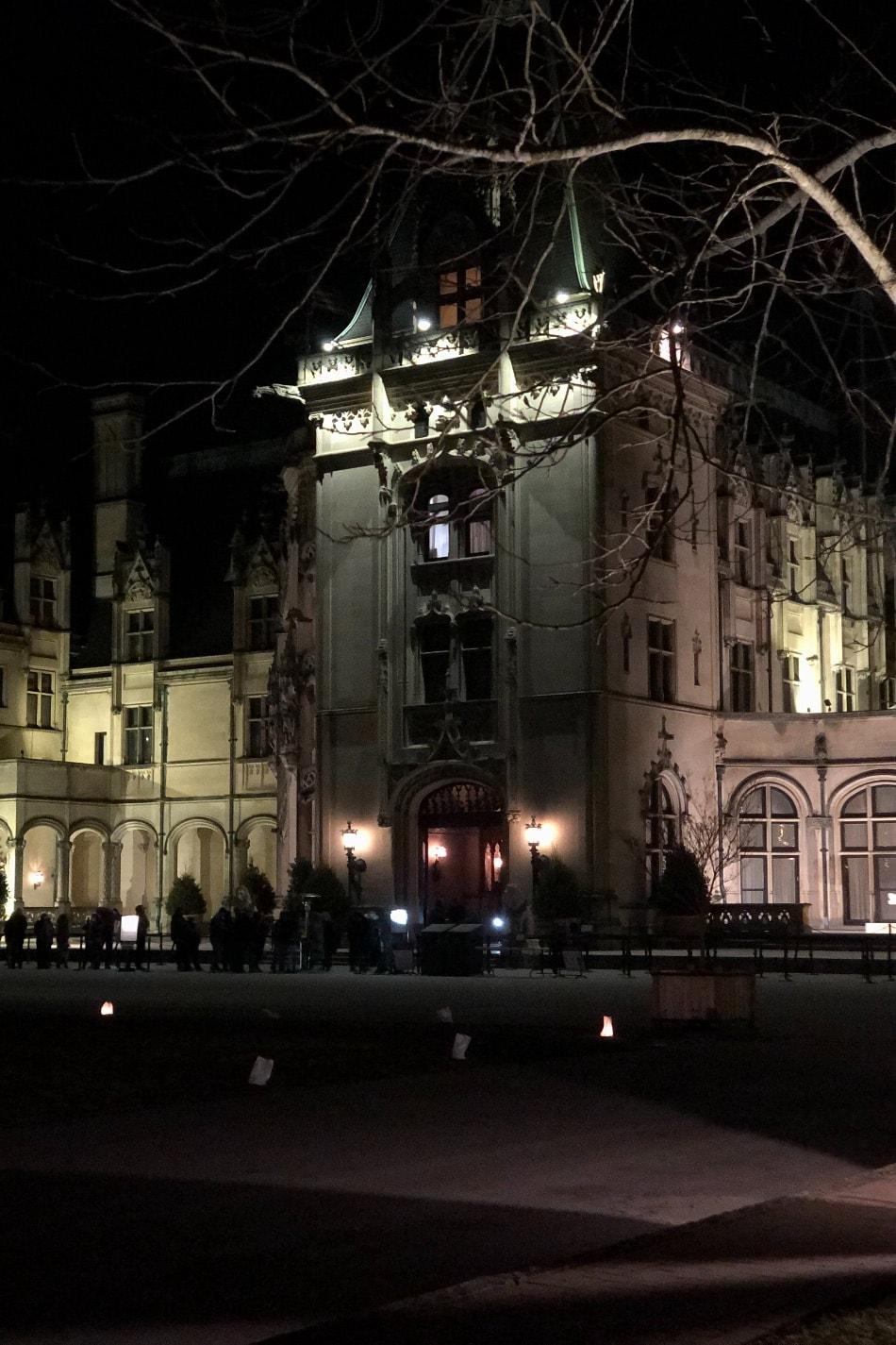 Biltmore House at night